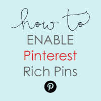 How To Enable Pinterest Rich Pins on your blog