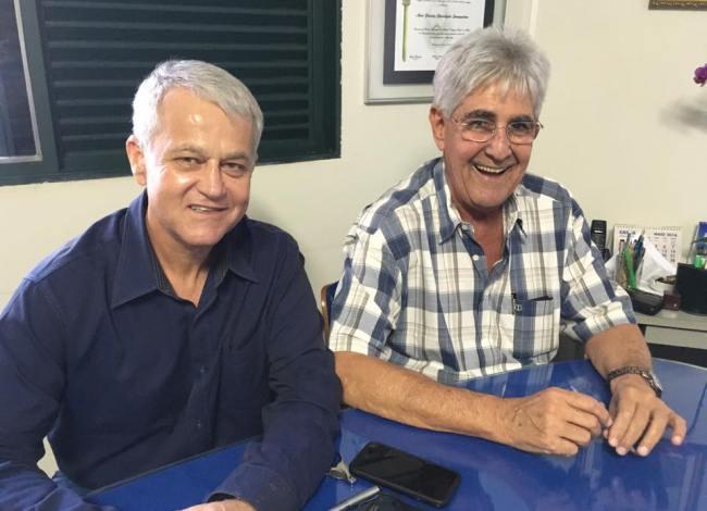 Reunião com o ex-prefeito Odelmo Leão