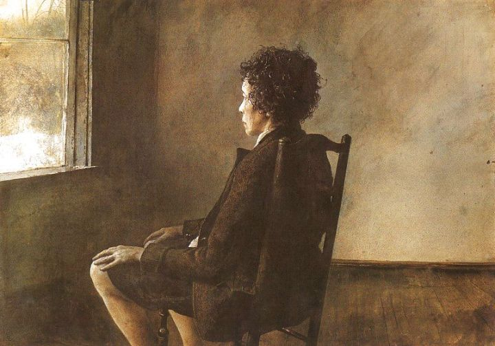 Andrew Wyeth - Up in the studio