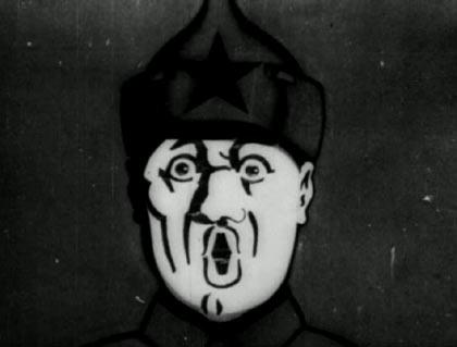 Soviet propaganda cartoon