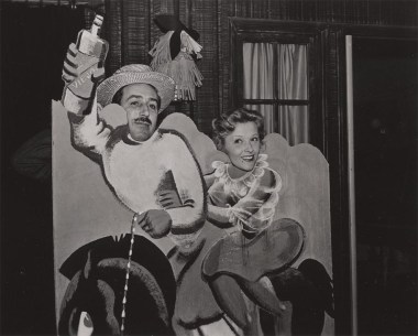 Walt Disney and unidentified woman