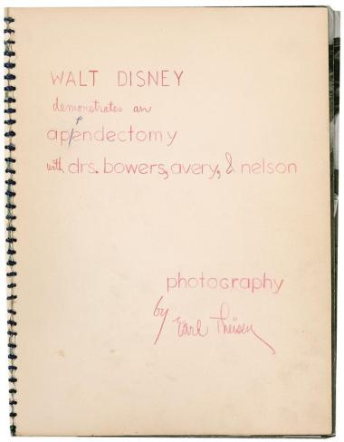 Walt Disney performs an appendectomy