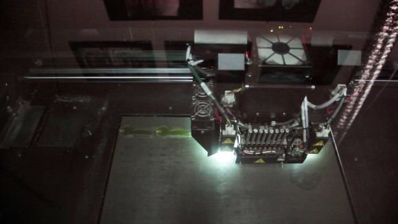 """A 3-D printer used to print out charactes from """"The Boxtrolls."""""""
