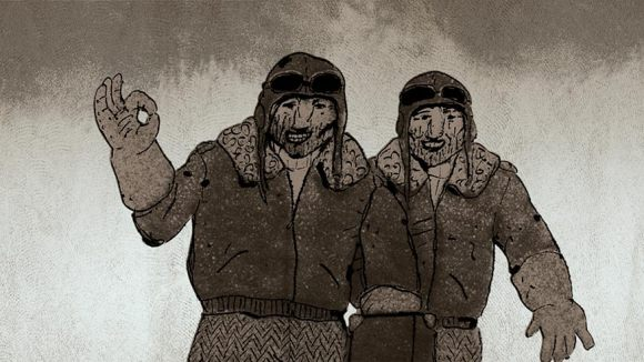 """""""Pilots on the Way Home"""" by . Click to enlarge."""