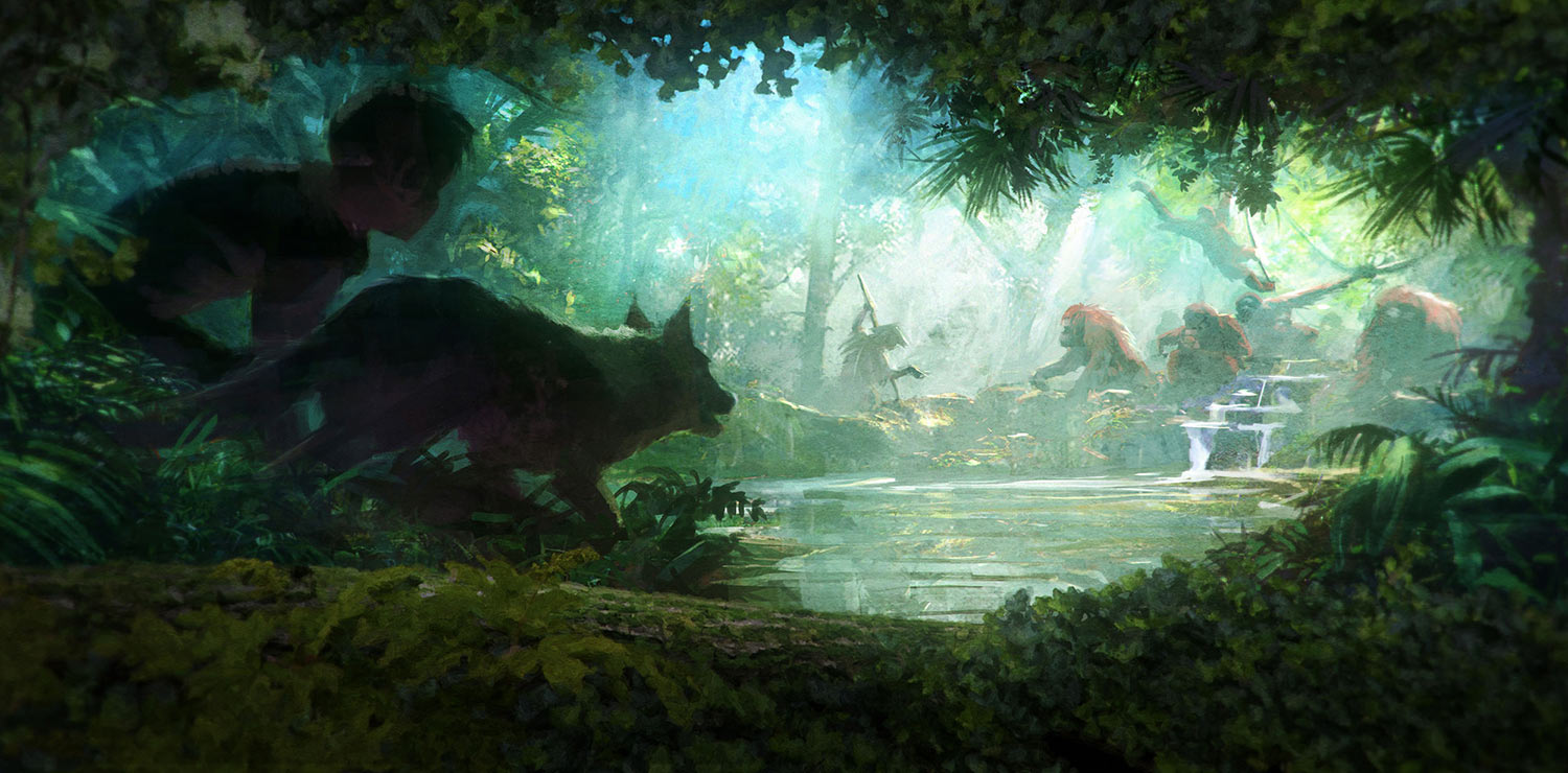 Movie Poster jungle book movie poster : u0026quot;Kensukeu0026#39;s Kingdomu0026quot; concept artwork. (Courtesy of the ...