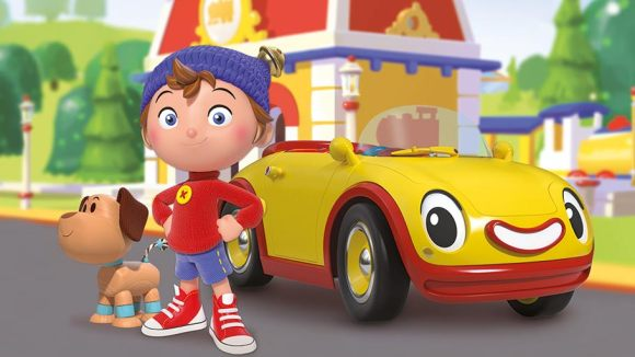 Noddy and his sidekicks Bumpy and Revs. Click to enlarge. (©2015 Classic Media Distribution Ltd.)