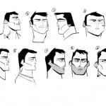 Early Head Sketches of main character, Cleveland Carr