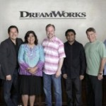 DREAMWORKS ANIMATION SKG, INC. KEVIN LIMA WITH FILMMAKERS FROM MONKEYS OF MUMBAI Left to Right: Lisa Stewart (producer), Paul Berges (writer), Gurinder Chadha (writer), Kevin Lima (director), AR Rahman (EP/composer), Stephen Schwartz (EP/lyricist), Chris Chase (producer)