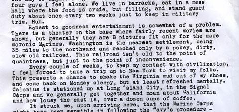 Carl Fallberg Letter