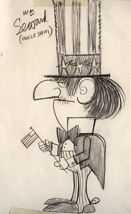 Drawing by Ward Kimball