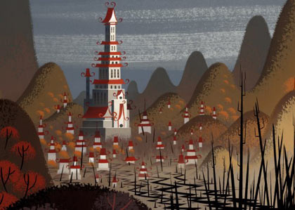Background painting by Scott Wills