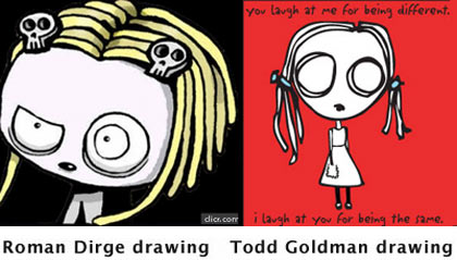 Todd Goldman and Roman Dirge artwork