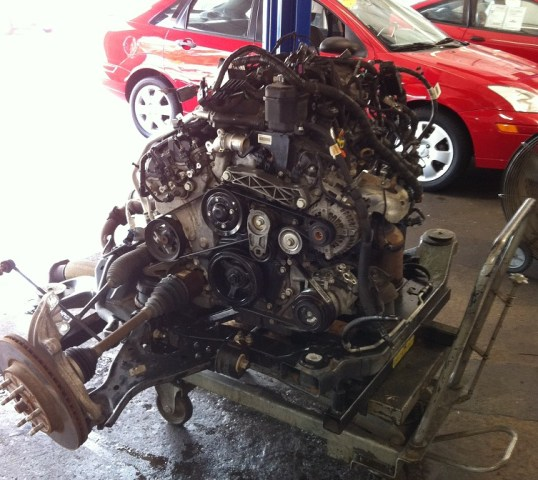 Chevy Traverse And GMC Acadia Timing Chain Problems  Pictures Chevy Traverse Engine removed      Replacing timing chains