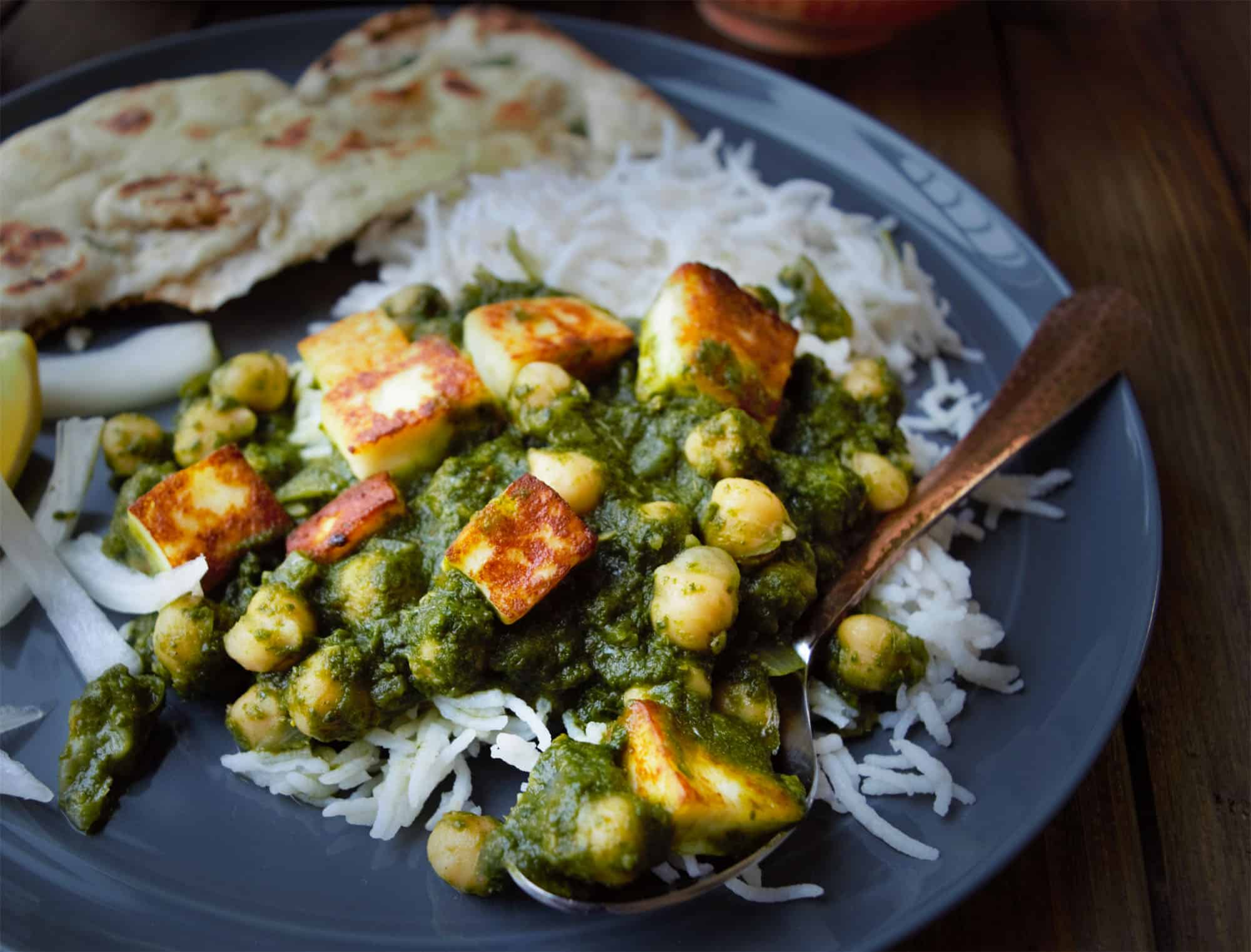 ... menu recipe – kale saag with chickpea & tofu vegan gluten free