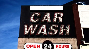 signage, carwash, car wash, car wash sign, signs, 24 hours, open 24 hours, LED, lighting, neon light