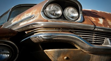 Rust, rustproofing, preventing rust, rusty car, old car, worn down, broken down, junk yard, rustproofing, corrosion, headlight