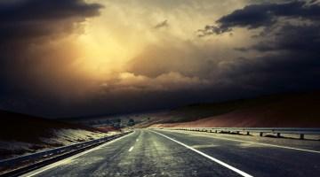 Storm, storm watch, bad weather, poor weather, highway, stormy, dark clouds