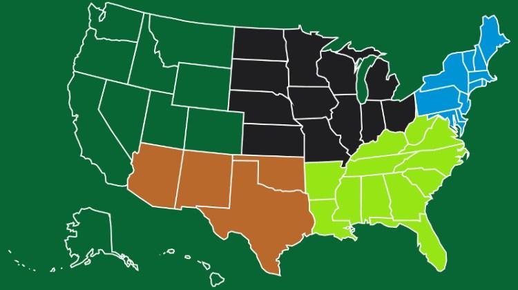 map region regions united states