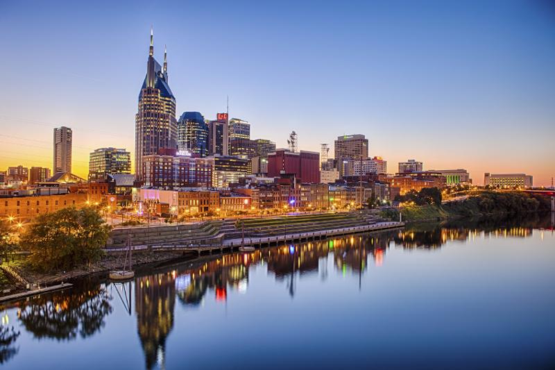 City skyline, Nashville, Tenessee