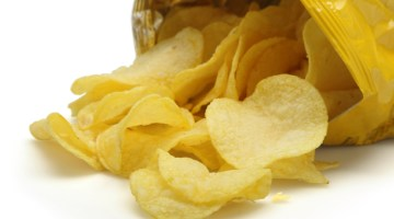 Potato chips, potato chip bag