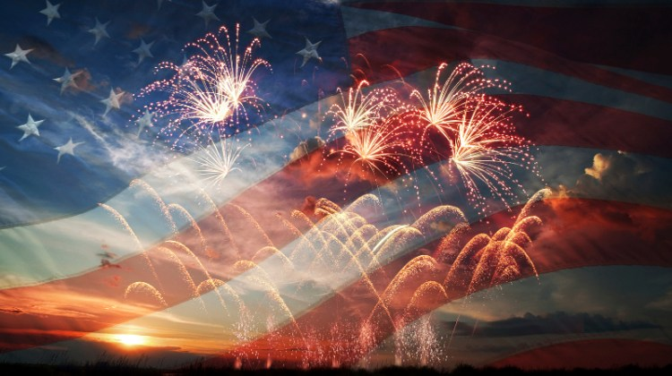 July 4th, Fourth of July, Independence, patriotic, American flag, fireworks