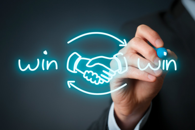 Handshake, writing, win, winning, partnership, teamwork, winning customers, success.