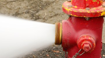 fire hydrant, water, water spray