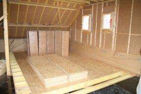 Isolation thermique en laine de bois sur murs et toit