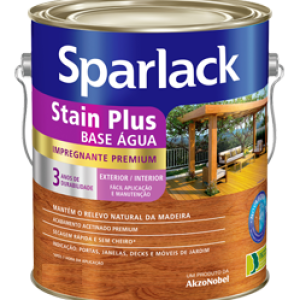 Verniz Sparlack Stain Plus Base Água – Natural 900ml Acetinado