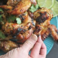 Cilantro Lime Chicken Wings for #SundaySupper