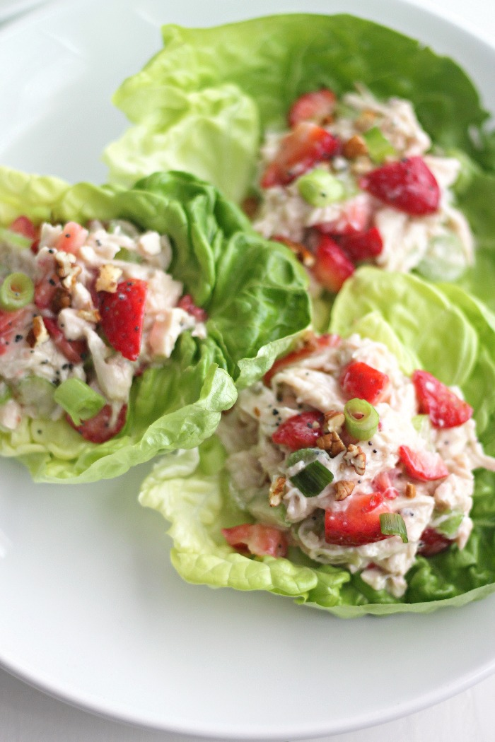 Strawberry Poppy Seed Chicken Salad Sandwiches #SundaySupper #FLStrawberry