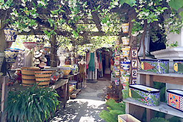 Side alleys reveal interesting booth of artisans and retailers