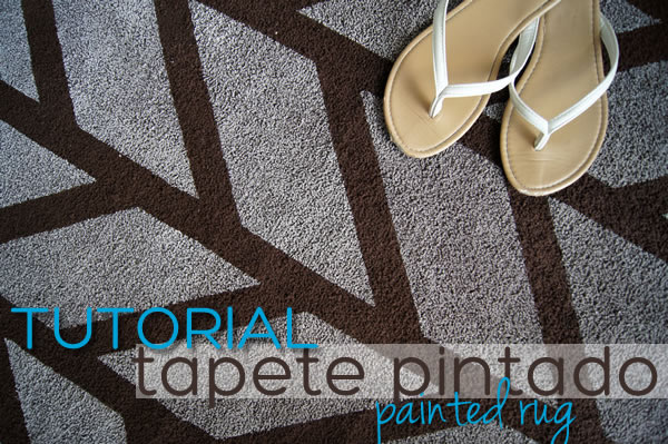 painted rug tutorial cómo pintar un tapete
