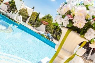 Villa Marta Madama Visuale della piscina esterna