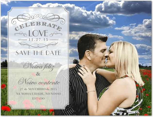 DIY: Save the date com fotos