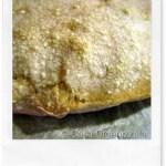 No knead bread, pagnottella senza impasto con pasta madre