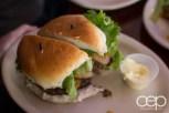 A Grover's Cheddar Burger
