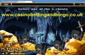 Dragon's Loot Slot Machine - Bonus Screen