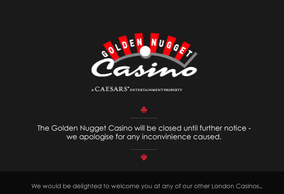 Casino Closes Its Doors Golden Nugget