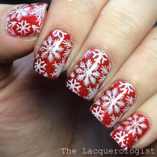 Casual Contrast Snowflake Nail Art