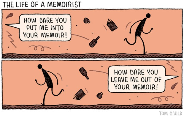 Life of a Memoirist by Tom Gauld