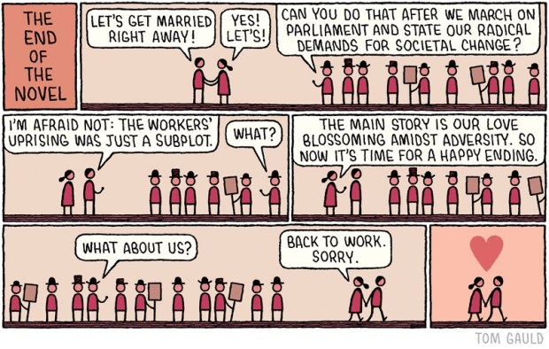 End of the novel Tom Gauld