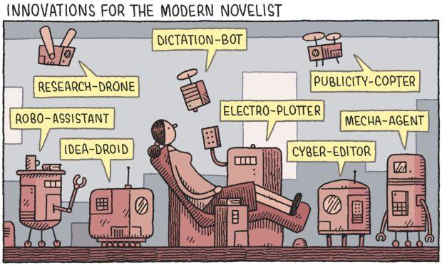 innovations for the modern novelist Tom Gauld