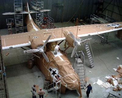 Repaint in progress, masked for markings, 30 May 2005