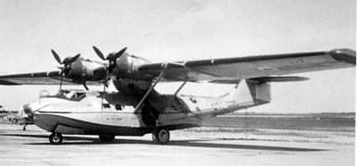 RCAF Canso A serial 11005 shown in post-war service with 121 (S&R) Flight Photo: David Legg Collection