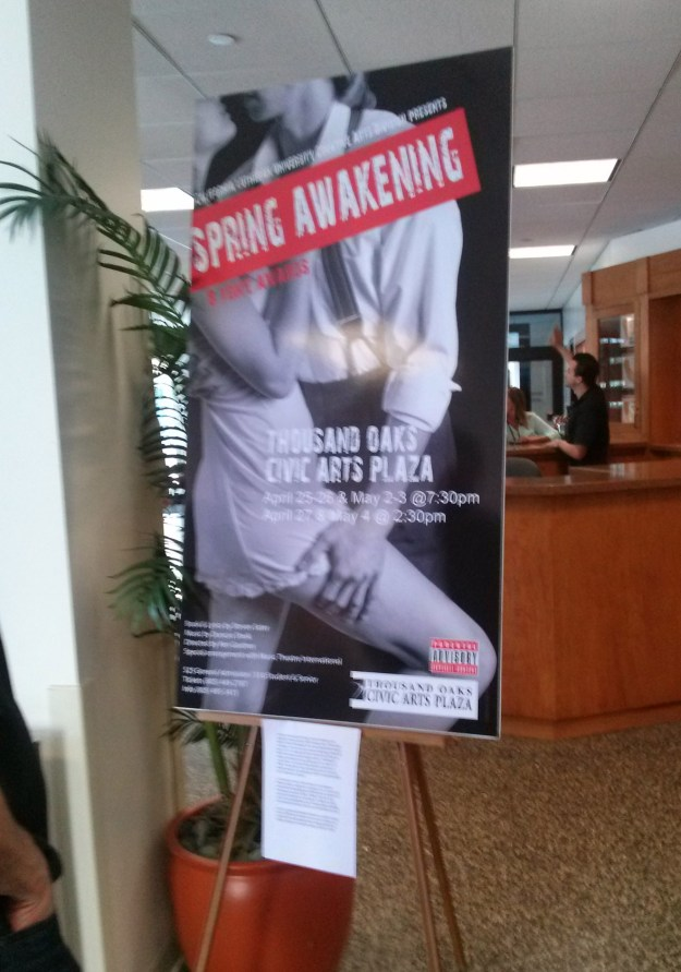 Large lobby poster for the musical of Spring Awakening.