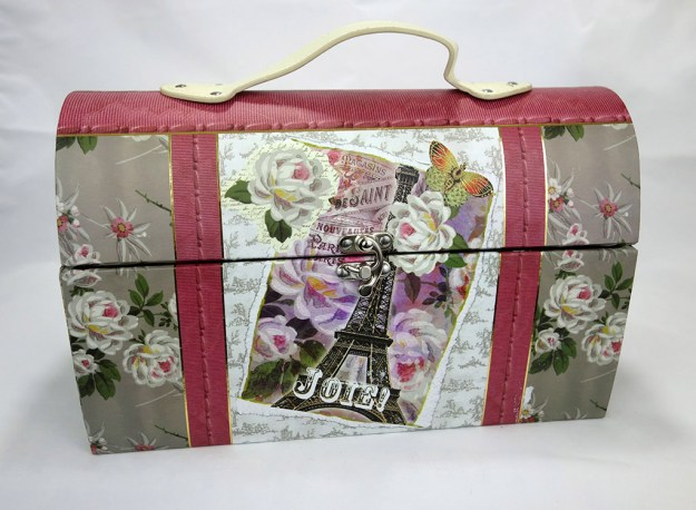 Another beautifully decorated floral, large cosmetic box