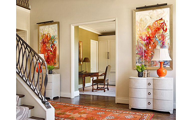 Catherine M. Austin Interior Design/ Glenview Entry/ Windy O'Connor Artist