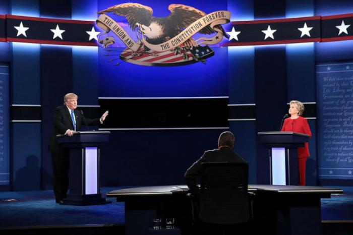 Hillary Clinton and Donald Trump faceoff in the first presidential debate At Hofstra University