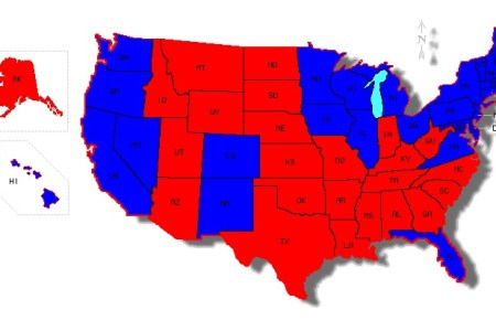 Map Of Blue And Red States - Map of red and blue states